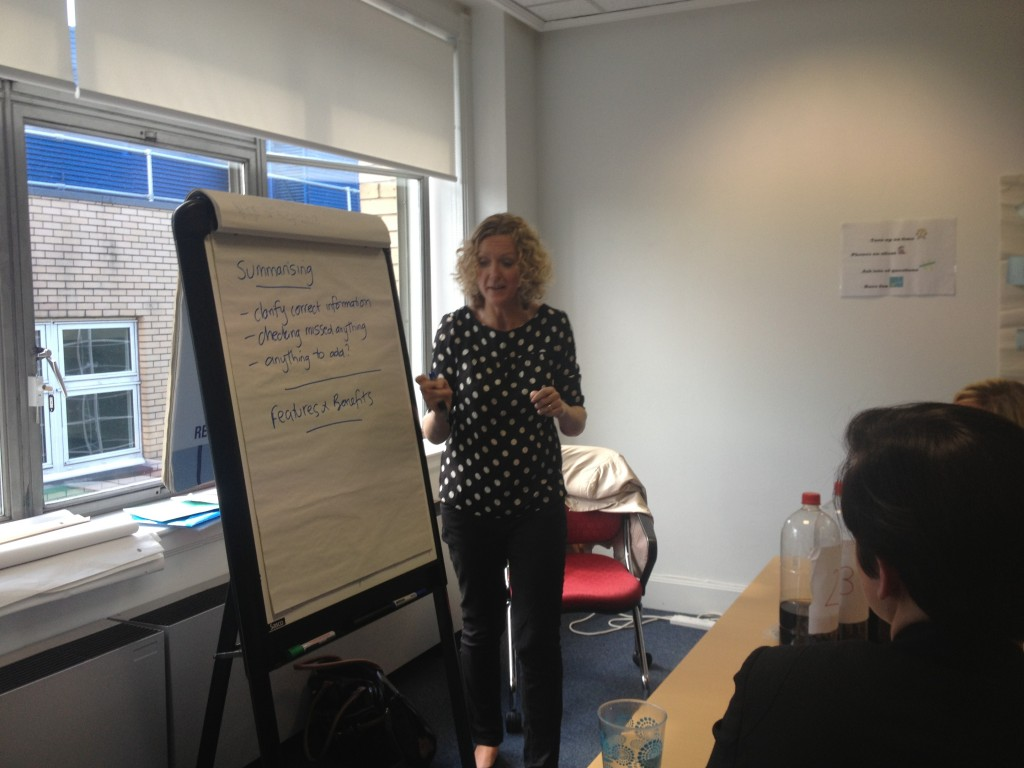 Pauline delivers sales training at a Princes Trust Event